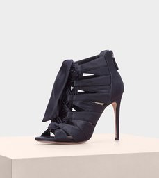 Layla 100 Satin Navy Black