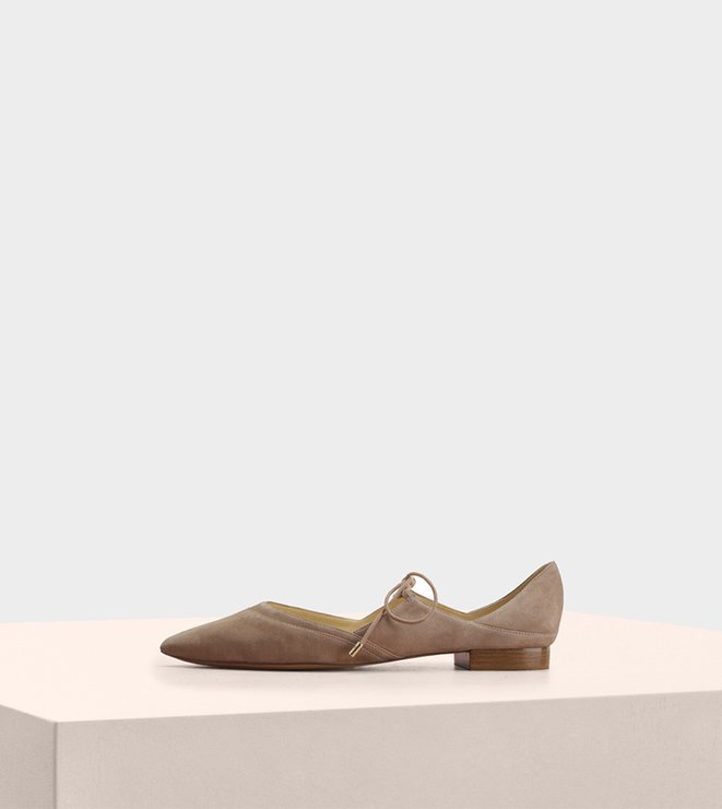Corinne Ballet Flat Suede Cameo