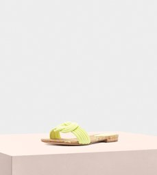 Sue Flat Suede Lemon