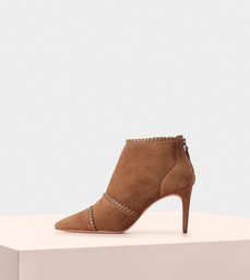 Joan Boot 75 Vitello Suede Toffee