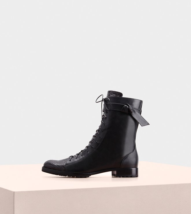 Evelyn Boot 2O Exotic Black