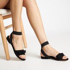 Clarita Elastic Flat Black