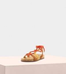 Faye Leather Suede Almond