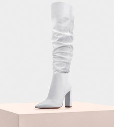 Boot Anna Slouch 100 Nappa White