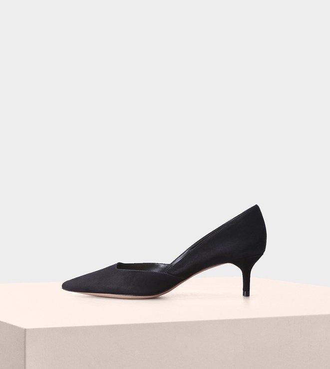Celita Kitten Heel 50 Suede Black