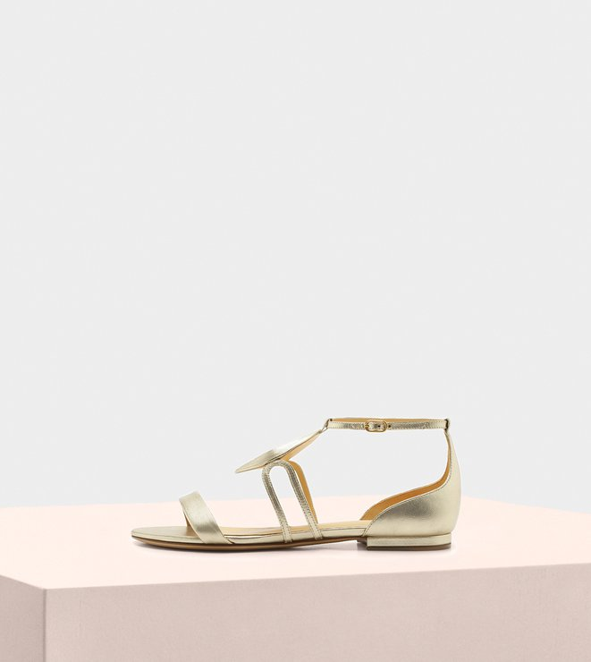 Dee Dee Flat Sandal Kid Soft Metal Golden