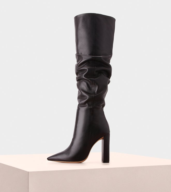 Boot Anna Slouch 100 Nappa Black