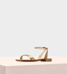 WILLOW FLAT LEATHER BRONZE