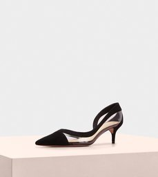Wavee Pump Kitten Heel 50 Vinyl Black