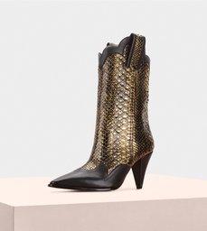 Estelle Boot 90 Python Oro