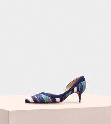 Wavee Kitten Heel 50 Fabric Blue