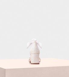 Clarita Block 60 Fabric White