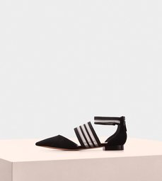 Shadow Flat Ballerina Suede Black